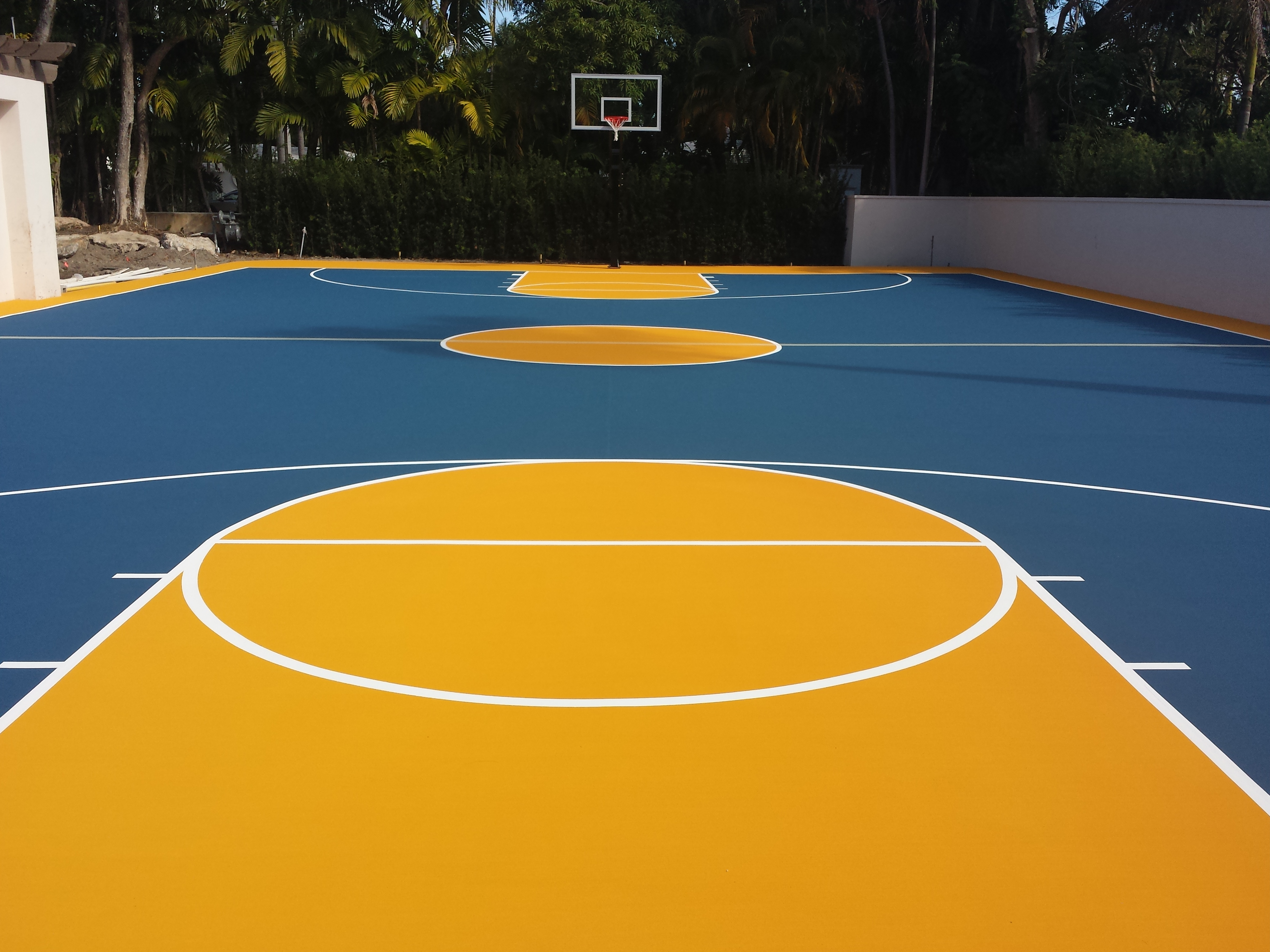 Private residence basketball court ace surfaces news for Personal basketball court